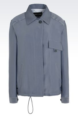 Armani Blazer Donna giacca monopetto in tessuto tecnico