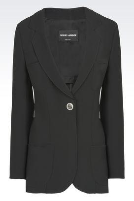 Armani Blazer Donna giacca monopetto in cady di seta