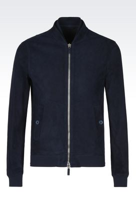 Armani Blouson Uomo giacca bomber in suede