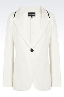 Armani Blazer Donna giacca monopetto in jersey slim fit