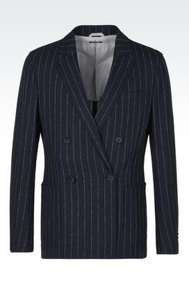Armani Blazer Uomo giacca upton in stuoia di lana