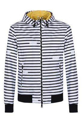 Armani Bomber Uomo blouson jacket in tessuto tecnico a righe