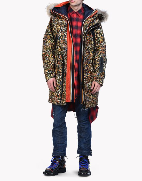 floral print leather jacket coats & jackets Man Dsquared2