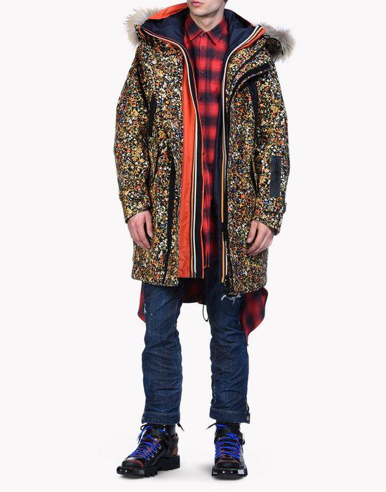 fur-trimmed hood floral ski parka coats & jackets Man Dsquared2