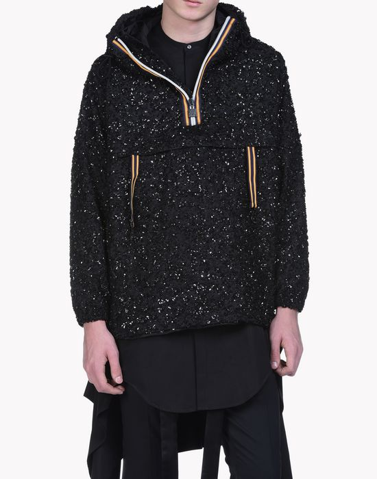 k-way flower embroidered anorak capispalla Uomo Dsquared2