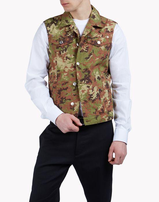 camouflage cargo vest coats & jackets Man Dsquared2