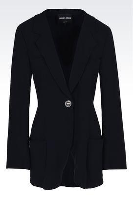 Armani Giacche Donna giacca monopetto in tessuto doppio di lana