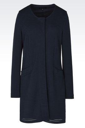 Armani Cappotti Donna cappotto in tessuto tecnico jacquard