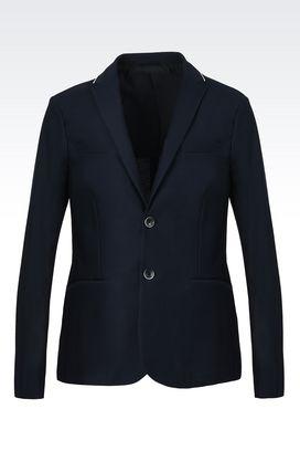 Armani Giacche a due bottoni Uomo giacca monopetto in jersey di cotone