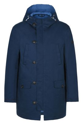 Armani Trench Men hooded cotton trench coat