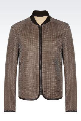 Armani Blouson Uomo giacca in pelle