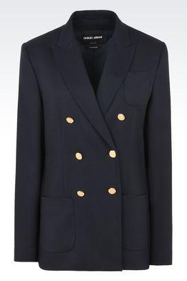 Armani Blazer Donna giacca doppiopetto in puro cachemire
