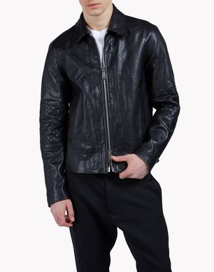 DSQUARED2 Leather outerwear U S71AM0796SX7818900 f