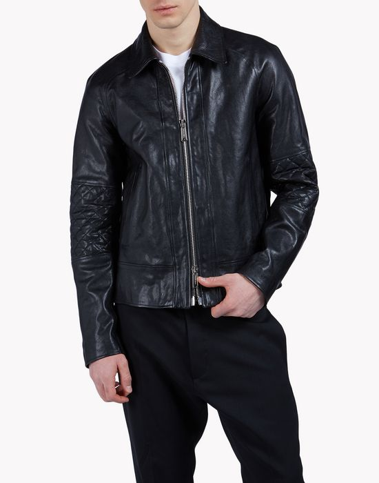 leather zip jacket coats & jackets Man Dsquared2