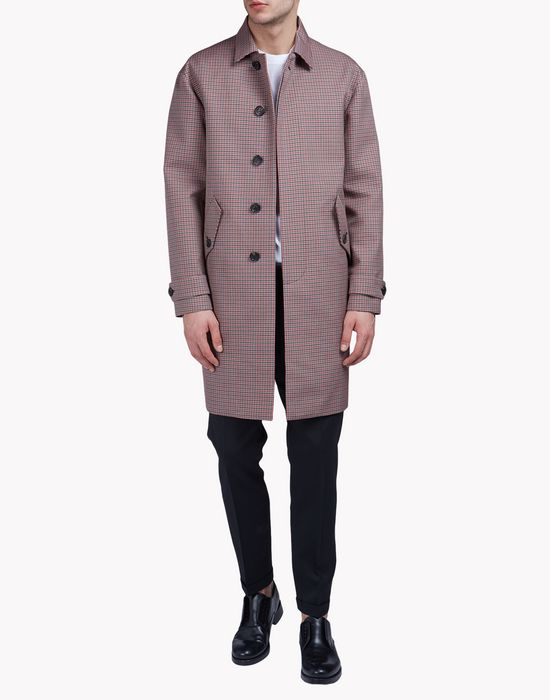 check jacquard coat coats & jackets Man Dsquared2