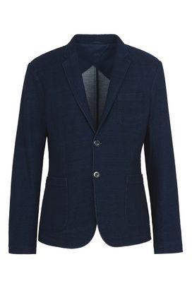 Armani Two button jackets Men two-button indigo cotton denim jacket