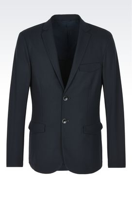 Armani Giacche Uomo giacca monopetto in misto cotone