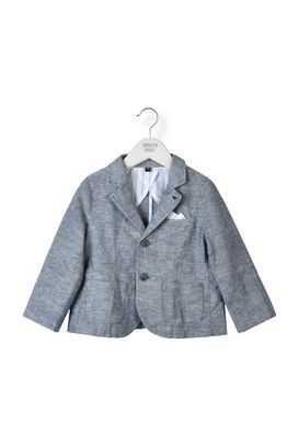 Armani Jackets Men two-button linen jacket with pocket square