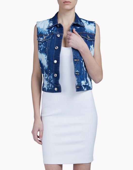 bleached denim vest manteaux & vestes Femme Dsquared2