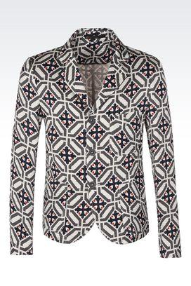 Armani Giacche Uomo giacca monopetto in lino e seta