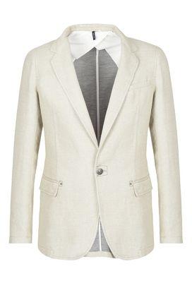 Armani Blazers Men one-button cotton jacket