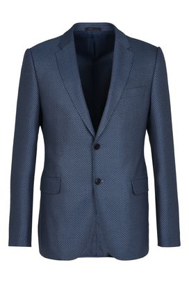 Armani Giacche a due bottoni Uomo giacca monopetto a due bottoni in tessuto piquet bicolore