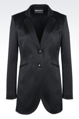 Armani Giacche a due bottoni Donna giacca lunga in raso tecnico