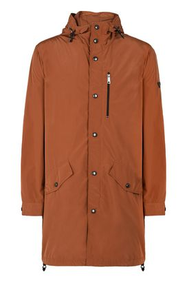 Armani Trench Men technical fabric trench coat with removable hood