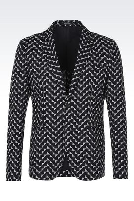 Armani Two button jackets Men embroidered geometric jacket