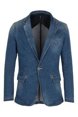 Armani Blazer Uomo giacca in denim ad un bottone