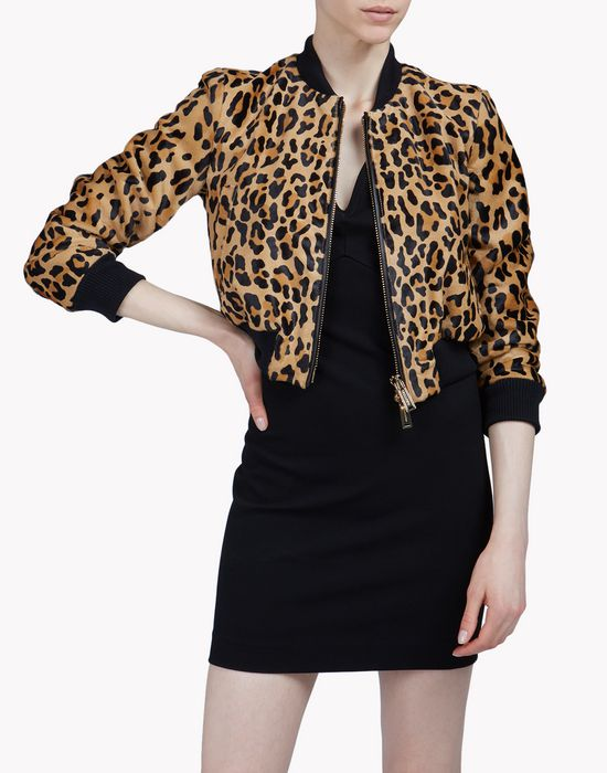leopard bomber jacket ropa de abrigo Mujer Dsquared2