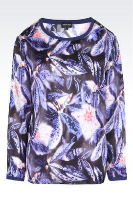 Armani Camicie Donna blusa in pura seta
