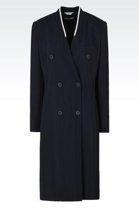 Armani Cappotti Donna cappotto doppiopetto in tessuto tecnico