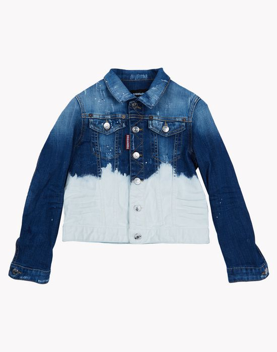 bleached denim jacket coats & jackets Man Dsquared2