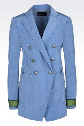 Armani Giacche Donna giacca doppiopetto in taffetà stropicciato