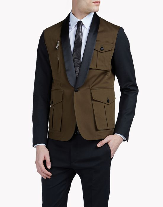 mod biker blazer coats & jackets Man Dsquared2