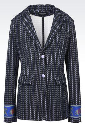 Armani Giacche Donna giacca monopetto in jacquard motivo chevron