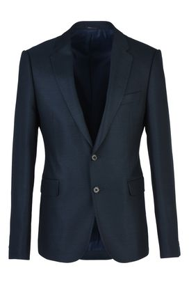 Armani Jackets Men single-breasted two-button wool blend jacket