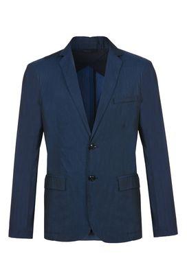 Armani Blazers Men two-button iridescent cotton twill jacket