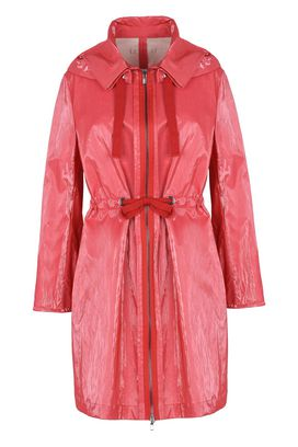 Armani Mackintoshes Women solid colour coated fabric coat