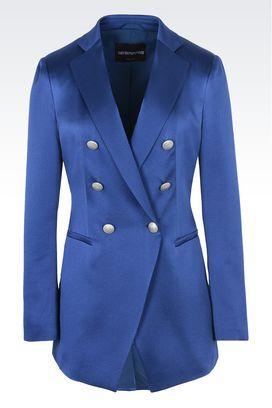 Armani Giacche doppiopetto Donna giacca doppiopetto in pura seta