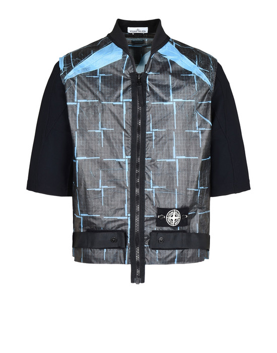 STONE ISLAND Jacket 444J2 PAPER POLY SI HOUSE CHECK GRID