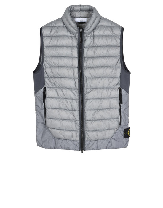 STONE ISLAND Vest G0124 GARMENT DYED MICRO YARN DOWN_PACKABLE