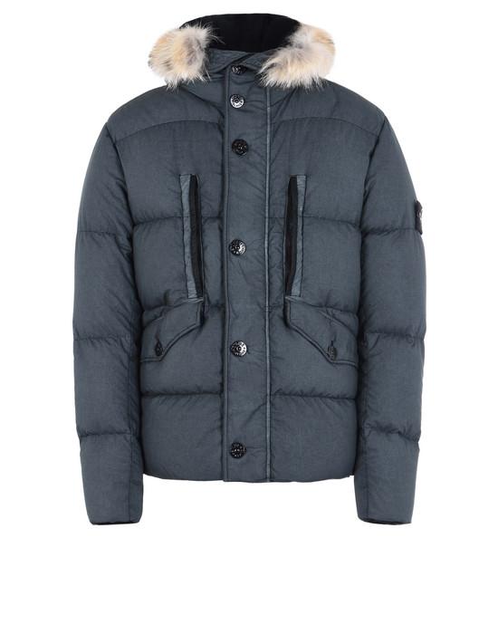 STONE ISLAND Mid-length jacket 43135 RESIN POPLIN DOWN-TC