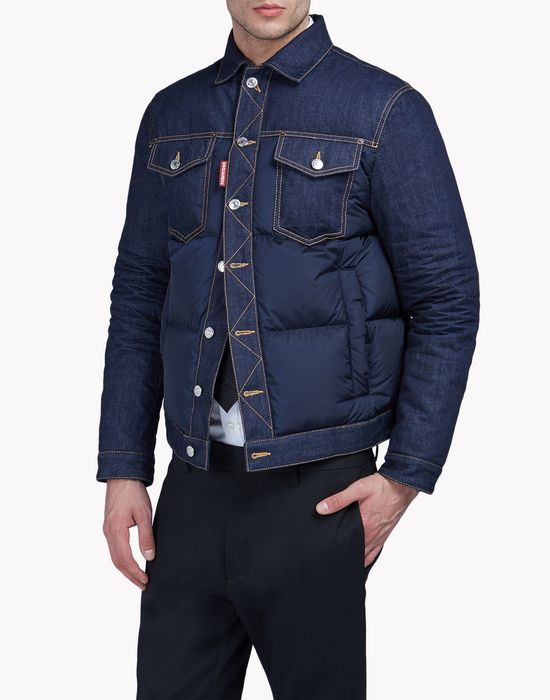 denim-nylon quilted jacket coats & jackets Man Dsquared2