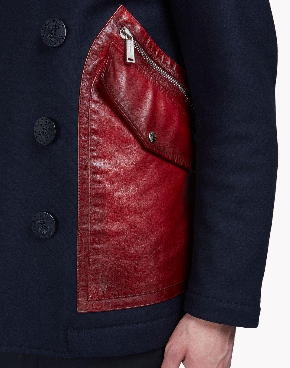 patch pocket wool felt peacoat coats & jackets Man Dsquared2