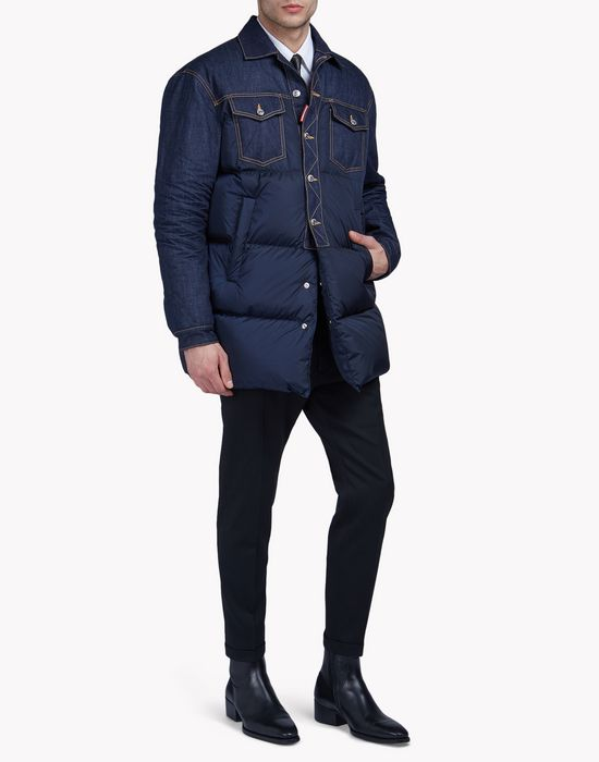 denim-nylon quilted coat coats & jackets Man Dsquared2