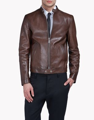 DSQUARED2 Leather outerwear U S74AM0756SY0653143 f