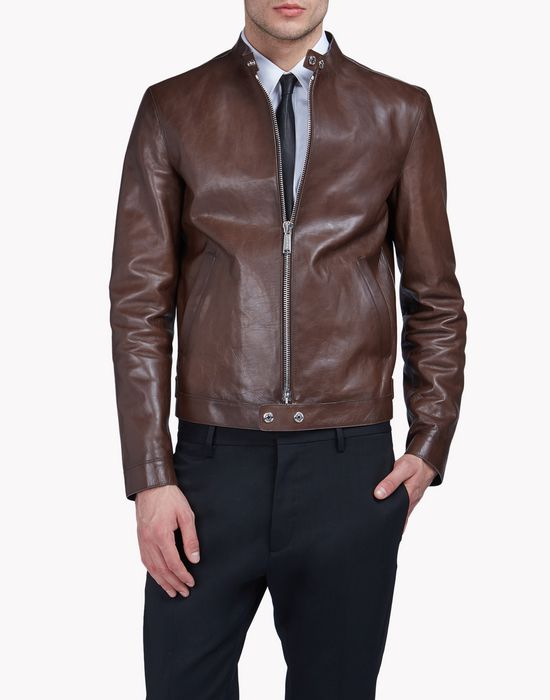 leather jacket mäntel & jacken Herren Dsquared2