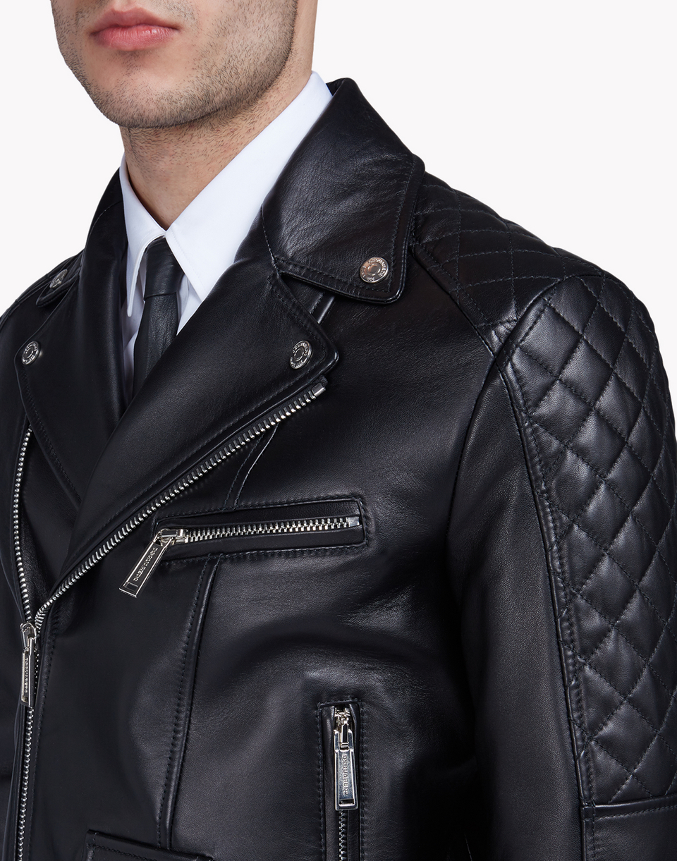 quilted aviator leather jacket coats & jackets Man Dsquared2